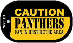 Caution Panthers Fan Area Wholesale Novelty Metal Dog Tag Necklace DT-2526