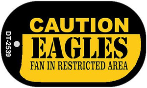 Caution Eagles Fan Area Wholesale Novelty Metal Dog Tag Necklace DT-2539