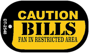 Caution Bills Fan Area Wholesale Novelty Metal Dog Tag Necklace DT-2548
