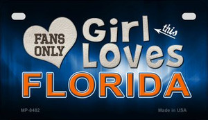 This Girl Loves Her Florida Wholesale Novelty Metal Motorcycle Plate MP-8482