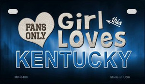 This Girl Loves Her Kentucky Wholesale Novelty Metal Motorcycle Plate MP-8486