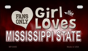 This Girl Loves Her Mississippi State Wholesale Novelty Metal Motorcycle Plate MP-8495