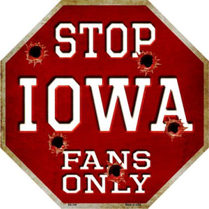 Iowa Fans Only Wholesale Metal Novelty Octagon Stop Sign BS-344