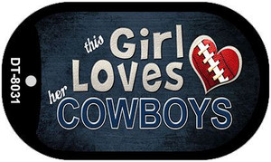This Girl Loves Her Cowboys Wholesale Novelty Metal Dog Tag Necklace DT-8031
