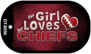 This Girl Loves Her Chiefs Wholesale Novelty Metal Dog Tag Necklace DT-8056