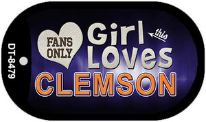 This Girl Loves Her Clemson Wholesale Novelty Metal Dog Tag Necklace DT-8479
