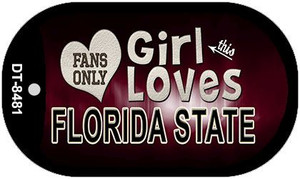 This Girl Loves Her Florida State Wholesale Novelty Metal Dog Tag Necklace DT-8481
