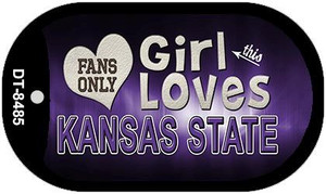 This Girl Loves Her Kansas State Wholesale Novelty Metal Dog Tag Necklace DT-8485