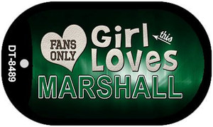 This Girl Loves Her Marshall Wholesale Novelty Metal Dog Tag Necklace DT-8489