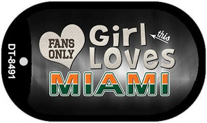 This Girl Loves Her Miami Wholesale Novelty Metal Dog Tag Necklace DT-8491