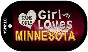 This Girl Loves Her Minnesota Wholesale Novelty Metal Dog Tag Necklace DT-8494