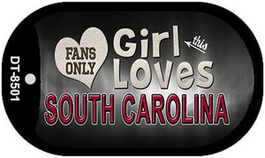 This Girl Loves Her South Carolina Wholesale Novelty Metal Dog Tag Necklace DT-8501