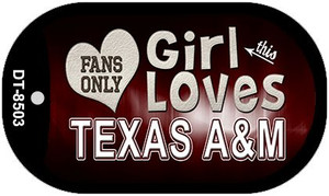 This Girl Loves Her Texas A&M Wholesale Novelty Metal Dog Tag Necklace DT-8503