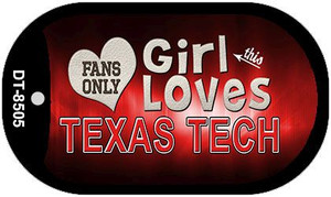 This Girl Loves Her Texas Tech Wholesale Novelty Metal Dog Tag Necklace DT-8505