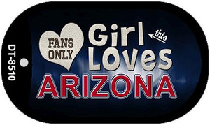 This Girl Loves Her Arizona Wholesale Novelty Metal Dog Tag Necklace DT-8510
