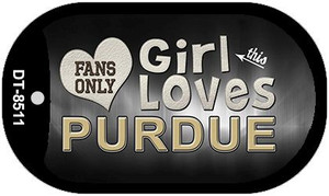 This Girl Loves Her Purdue Wholesale Novelty Metal Dog Tag Necklace DT-8511