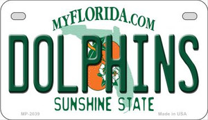 Dolphins Florida Wholesale Novelty Metal Motorcycle Plate MP-2039