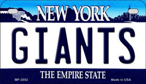 Giants New York Wholesale Novelty Metal Motorcycle Plate MP-2052