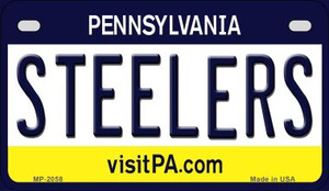 Steelers Pennsylvania Wholesale Novelty Metal Motorcycle Plate MP-2058