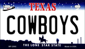 Cowboys Texas Wholesale Novelty Metal Motorcycle Plate MP-2060