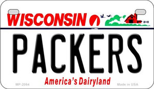 Packers Wisconsin Wholesale Novelty Metal Motorcycle Plate MP-2064
