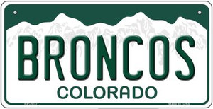 Broncos Colorado Wholesale Novelty Metal Bicycle Plate BP-2037