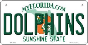 Dolphins Florida Wholesale Novelty Metal Bicycle Plate BP-2039