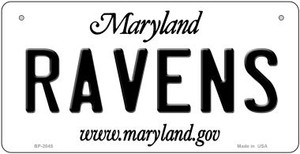 Ravens Maryland Wholesale Novelty Metal Bicycle Plate BP-2045