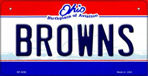 Browns Ohio Wholesale Novelty Metal Bicycle Plate BP-2056