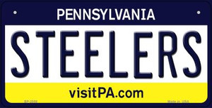 Steelers Pennsylvania Wholesale Novelty Metal Bicycle Plate BP-2058