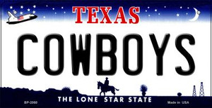 Cowboys Texas Wholesale Novelty Metal Bicycle Plate BP-2060