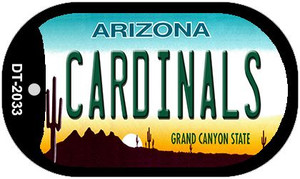 Cardinals Arizona Wholesale Novelty Metal Dog Tag Necklace DT-2033
