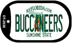 Buccaneers Florida Wholesale Novelty Metal Dog Tag Necklace DT-2038