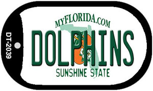 Dolphins Florida Wholesale Novelty Metal Dog Tag Necklace DT-2039