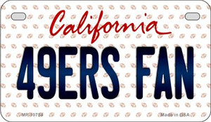 49ers Fan California Wholesale Novelty Metal Motorcycle Plate MP-10754
