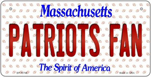 Patriots Fan Massachusetts Wholesale Novelty Metal Bicycle Plate BP-10766