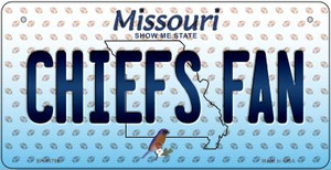 Chiefs Fan Missouri Wholesale Novelty Metal Bicycle Plate BP-10769
