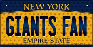 Giants Fan New York Wholesale Novelty Metal Bicycle Plate BP-10772