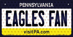 Eagles Fan Pennsylvania Wholesale Novelty Metal Bicycle Plate BP-10777