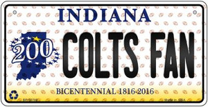 Colts Fan Indiana Wholesale Novelty Metal Bicycle Plate BP-10786