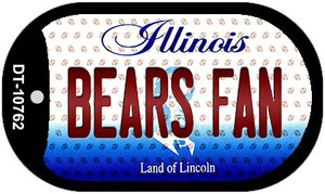 Bears Fan Illinois Wholesale Novelty Metal Dog Tag Necklace DT-10762