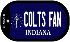 Colts Fan Indiana Wholesale Novelty Metal Dog Tag Necklace DT-10763