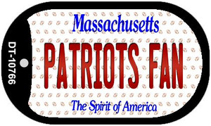 Patriots Fan Massachusetts Wholesale Novelty Metal Dog Tag Necklace DT-10766