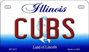Cubs Illinois Wholesale Novelty Metal Motorcycle Plate MP-2077