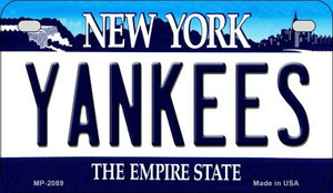 Yankees New York Wholesale Novelty Metal Motorcycle Plate MP-2089