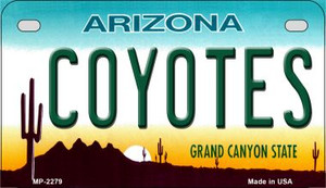 Coyotes Arizona Wholesale Novelty Metal Motorcycle Plate MP-2279