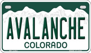Avalanche Colorado Wholesale Novelty Metal Motorcycle Plate MP-2283