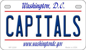 Capitals Washington DC Wholesale Novelty Metal Motorcycle Plate MP-2299
