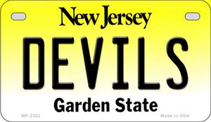 Devils New Jersey Wholesale Novelty Metal Motorcycle Plate MP-2302