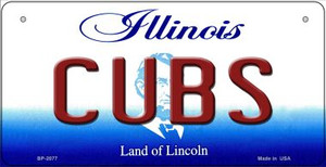 Cubs Illinois Wholesale Novelty Metal Bicycle Plate BP-2077
